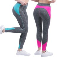 Wholesale ladies color pink yoga pants for sale - Women Yoga Pants Sports Leggings Breathable lady Jogger Pant With Pocket Slim Fitness Pencil Trousers Sportswear LJJV434