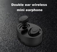 ingrosso orecchio senza fili del mini auricolari del bluetooth-K2 TWS gemelli auricolari mini bluetooth senza fili cuffia auricolare stereo auricolari sport in ear auricolare con scatola di ricarica dhl gratis