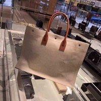 totes de linho venda por atacado-2019 venda Quente designer Gauche Tote sacolas, loja de sincronização top sacos de compras, sacos de compras de moda de viagem de linho, 45 * 36 * 16 cm