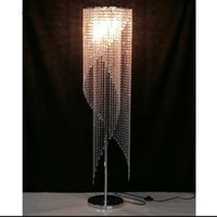 Wholesale crystal floor lamp resale online - modern design crystal floor lamps for living room floor standing light guarantee