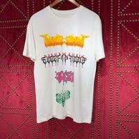 Wholesale graffiti clothing brands for sale - 2019 new Brand Clothing Graffiti letters printing Men s T Shirt Men Fashion Tshirts Fitness Casual Tops short sleeve T shirt