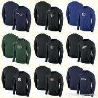 teamlogos t-shirts großhandel-NEU 2019 Herren Hoodie Hoodies Patriots Saints Giants Jets Raiders Adler Steelers Team Logo Performance Sweatshirt Langarm T-Shirt