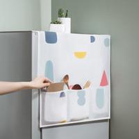 cubiertas de polvo del refrigerador al por mayor-Refrigerador del hogar a prueba de agua cubierta de polvo con bolsa de almacenamiento organizador de la bolsa para cocina nevera lavadora accesorios para el hogar