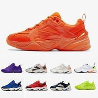 sneakers laufen gel frau groihandel-M2k Tekno Zoom 2K Gel In Orange Männer Frauen beiläufige Schuh-Süßigkeit-Farben-Hyper Grape Designer Laufschuhe Turnschuhe Herren Trainer Größe 36-45