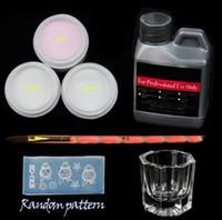 neue nagelkit großhandel-Neue Acryl Nagelkunstwerkzeuge Kit Set Für Nagel Set Werkzeuge Kristall Pulver Acryl Flüssigkeit Nagelbürste