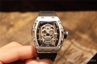 lista de marcas de relógios venda por atacado-Top marca de luxo dos homens relógio design oco máquina automática 316 aço inoxidável mineral temperado nova listagem de vidro