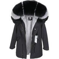 ingrosso nuovo cappotto di pelliccia-maomaokong Nuovo nel 2018 Natural vera pelliccia bavero del cappotto inverno femminile cappotto del rivestimento rivestimento di spessore Ucraina