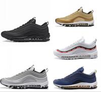 ayakkabı teslimatı toptan satış-Koşu Ayakkabıları s OG Altın Gümüş Bullet Üçlü Beyaz Siyah Mens Womens Eğitmen Spor Ayakkabı Hızlı Teslimat Brethable Sneakers Boyutu 36-46