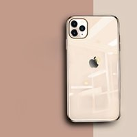 caso iphone fábrica venda por atacado-Para iPhone 11 Pro Max Xs Max Xr X Xs 6 7 8 Plus Fábrica Venda Original imitado Electroplated Endureça temperado Caso Shell de vidro de telefone
