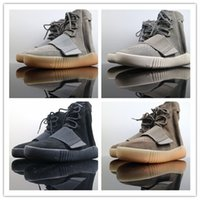 Wholesale blackout football shoes resale online - new Mens Blackout Outdoors Sneaker Kanye West shoes Hot Selling Skateboard Shoes Sneakeheads Shoe High Shoes yeezy