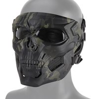 airsoft máscaras completos al por mayor-Tactical Scary Full Face Mask Skull Messenger Mask para la caza Airsoft CS Halloween Festival Party Movie props