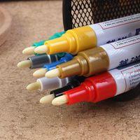 stifträder großhandel-Bunter Universal-wasserdichter Auto Pinsel Motorrad-Auto-Rad-Reifen Reifen Paint Marker Pen Gummi Permanent