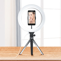 Wholesale light stand for flash resale online - 10 inch LED Ring Light Light Modes with Tripod Stand Cell Phone Holder Camera studio Fill light for Live Stream Makeup YouTube Video