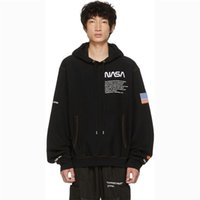 Wholesale sections sweatshirt hoodies for sale - Group buy 18fw Hp X Nasa Astronaut Hoodie Hair Circle Thin Section Embroidery Letter Mens Desiginer Hooded Couple Sweatshirts Hfwpwy150