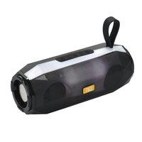usb flash müzik çalar toptan satış-TG147 Kablosuz Bluetooth Hoparlör Mini Protable LED Işık Flaş AUX TF USB FM Tablet PC Için Açık Spor Mp3 Müzik Çalar Akıllı telefon