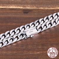 collar de tejido de plata al por mayor-S925 collar de plata esterlina accesorios de marea simple suave tejido popular personalidad salvaje pareja carta cadena 2018 nuevo caliente