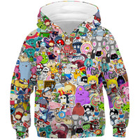 pokemon hoodie groihandel-Kinder Harajuku Anime-Karikatur Hoodies Adventure Time / Totoro / Pokemon Kawaii Kleidung Boy / Girl 3D Hoodys Kinderkleidung CJ191129