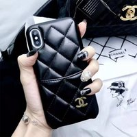 Wholesale slot phones ship for sale - Group buy One Piece luxury designer phone cases for iPhone plus PU Lather with Card slot Phone Cases Soft Back Cover