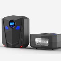 Wholesale car auto portable pump tire inflator online - 2019 New Digital Tire Inflator DC Volt Car Portable Air Compressor Pump PSI Auto Aire Pump for Car Motorcycle LED Light