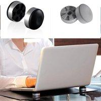 almohadillas de enfriamiento para computadoras al por mayor-Moda Mini portátil de silicona de superficie lisa Laptop Cooling Pad Nueva computadora de moda y oficina