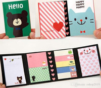 mensaje de dibujos animados al por mayor-Hot cute cartoon animals Bloc de notas / Bloc de notas / Papel adhesivo nota / mensaje mensaje Notas Blocs de notas envío gratis