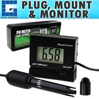 medidor de hidroponia al por mayor-PH-025RE Medidor de pH digital ATC 0 ~ 14.00pH Sonda de electrodo reemplazable Equipo de prueba de monitoreo de calidad del agua BNC Hidroponía para acuarios