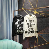 mode worte großhandel-19FW Luxus-Herbst-Winter Europa Italien Mosaik Wörter Pullover Mode für Männer Kleidung Skateboard T-Shirt Frauen Hoody