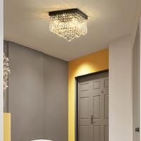 Wholesale stainless lighting resale online - Modern crystal ceiling chandelier lights flush mount crystal chandeliers lighting square led ceiling lamp for hallway balcony corridor