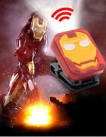 ingrosso batteria al litio-Iron Man LED Proiettore Versione Q Esterna Sensore di carica della batteria Batteria al litio Luce forte Lampada da campeggio Attrezzatura per la pesca notturna 13 5xc N1