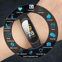 ios için akıllı saatler toptan satış-2019 Akıllı İzle Erkekler Kadınlar Nabız Kan Basıncı Spor Izci IOS Android Için Smartwatch Spor Akıllı Saat İzle