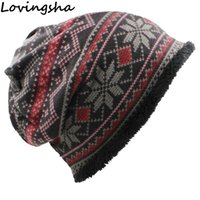 Wholesale black hat women vintage for sale - Group buy LOVINGSHA Skullies Beanies Girl Fashion Scarf Brand Autumn Winter Vintage Design Dual use Hats For Women Warm Ladies HT061