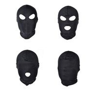hombres boca juguete sexual al por mayor-Juegos divertidos head Black Sex Mask Piece Sexy Head Mask Slave Open Bouth SM Bondage Sex Kinky Toys para Mujer Hombre Parejas