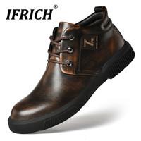 Frühlings Comfortable Beiläufiges Für Männer Qualitäts Vintage Beliebte Arbeiten Leder Schuhe Gummisohle Herren Junges cL4Aj5R3q