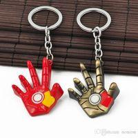jóias de filmes na moda unisex venda por atacado-Jóias moda The Avengers filme Tema Mão KeyChains CopperyRed Alloy Chaveiro Trinket chave presentes Titular Kerchain para chaves