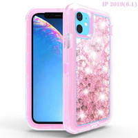 Wholesale soft cell phone cases online – custom Fashion Bling Bling Liquid Glitter Case for iPhone Cell Phone Anti drop Soft Clear TPU Case Flash Glitter Shell