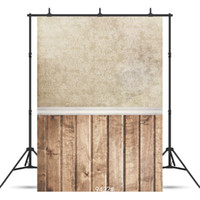 новые обои фон оптовых-White Wallpaper Wooden Floor Vinyl Photographic Backgrounds for Children Baby Shower New Born Backdrop Photo Studio Photocall
