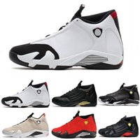 zapatos de cuero flexibles al por mayor-2019 Zapatillas de deporte de diseño llamativos para hombres 14s 14 Zapatillas de baloncesto Thunder Men Zapatillas exteriores de cuero flexible de ante rojo Zapatillas deportivas al aire libre