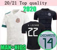 Wholesale mexico national team resale online - 20 Mexico Soccer jersey away H LOZANO CHICHARITO national team man kit sports football uniform shirts