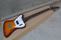 Wholesale one piece basses resale online - Newest thunderbird pro electric bass guitar one piece set No Scarf bass in cherry color top quality guitar