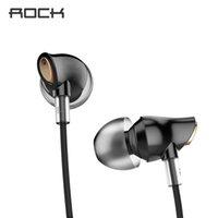 ingrosso basso rock-Rock In-ear Zircon Nano Stereo Auricolare 3.5mm Aux Headset con microfono Balanced Immersive Bass Auricolari per Iphone Sumsung Xiaomi T6190617