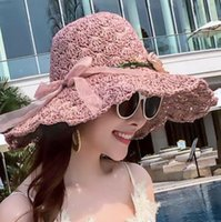 ab60df82 2019 new hot sale collapsible sun hat straw hat female summer beach seaside  holiday sunshade hat wild casual