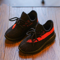 Wholesale black infant babies resale online - Kids Shoes Sneakers Toddler Kanye West Run Shoes Infant Baby Children Youth Boys And Girls Chaussures Pour Enfants