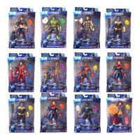 karikatür oyuncakları taşıyor toptan satış-Yeni varış Avengers 4 Marvel Aksiyon Figürleri Sürpriz Kaptan Thanos bebekler Işık ses ve hareketli Karikatür oyuncaklar ile Ses