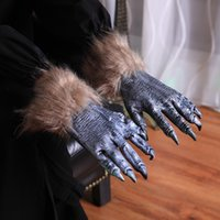 Halloween Costumes Werewolf Gloves Realistic Claws Wolf Hands Party Club Bar