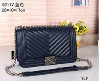 Wholesale wallets for women leather sale resale online - Sale Fashion Vintage Handbags Women bags Design Handbags Wallets for Women Leather Chain Bag Crossbody and Shoulder Bags