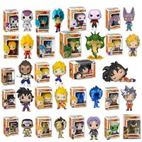 Wholesale Funko pop Amine Dragon Ball PORUNGA SUPER SAIYAN GOKU Golden FRIEZA GREAT VEGETA Vinyl Action Figure Collectible Model with box