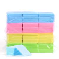 para toallitas al por mayor-600pcs / lot Esmalte de uñas algodón del removedor del cojín Wipe servilletas Manicura Gel Herramientas libre de pelusa para toallitas duro servilletas RRA2086