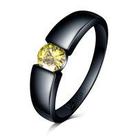bague diamant jaune a vendre