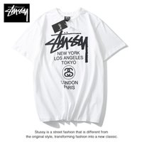 Wholesale women tee pink resale online - Mens Designer T Shirt Summer Brand Breathable Loose T Shirts For Men And Women Stussy Brand Hip Hop Streetwear Tops Luxury Tees