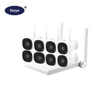 sistema de vigilância completo venda por atacado-N_eye Profissional Sistema de Câmera de CCTV Sem Fio HD 1080 P 8CH Kit de Vigilância de Vídeo De Segurança Em Casa À Prova D 'Água Ao Ar Livre 2MP